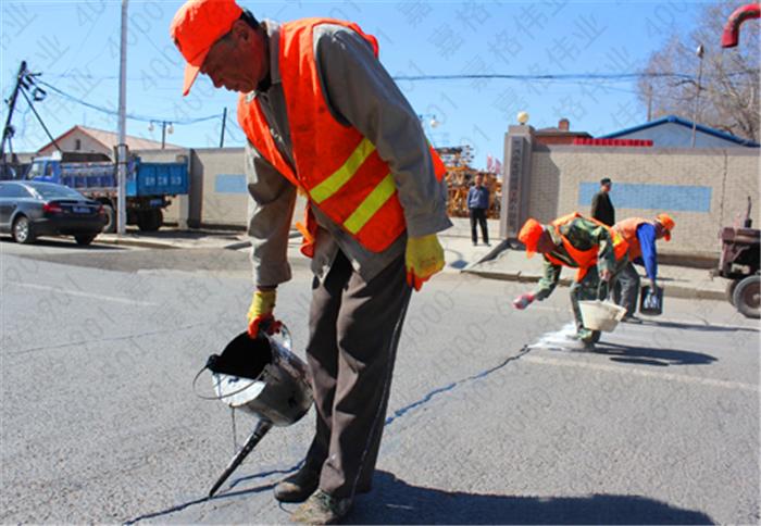 为什么使用嘉格路面沥青灌封胶养护道路更省钱